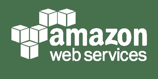 Amazon AWS logo, white